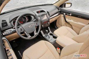 نمای داخل کابین و فرمان کیا سورنتو XM مدل 2009 تا 2014 Kia Sorento XM