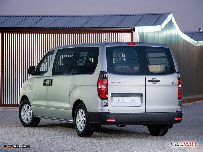 نمای عقب و جانبی نسل دوم هیوندای اچ وان Hyundai H1 TQ